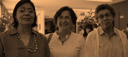 Dra. Frida Villavicencio Z., Dra Eva Salgado A. y la Dra. Rosa Yáñez R.